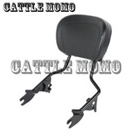 Motorcycle Sissy Bar Upright Passenger Backrest W Pad Seat For Harley Touring Street Glide Road Glide