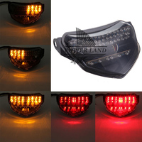 1pcs Smoke Lens Motorcycle Integrated LED Rear Brake Tail Tight Indicator Turn Signal Fit For Suzuki
