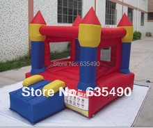 PVC3x2m tarpaulin inflatable bouncers with slide for kids and baby
