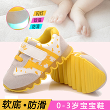 Spring and autumn baby shoes toddler shoes soft baby shoes outsole male child girls  0-1-2-3 year old 2 – 3 underhandly shoes