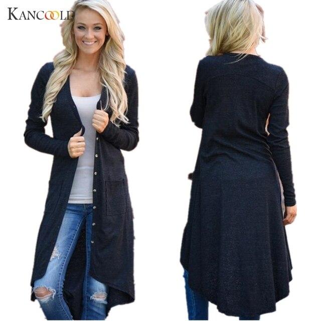 Nieuwe Mode Herfst middellange vrouwen Vest 2017 Trui vrouwelijke Vintage elegante pocket Gebreide Bovenkleding Cape Tops JY14