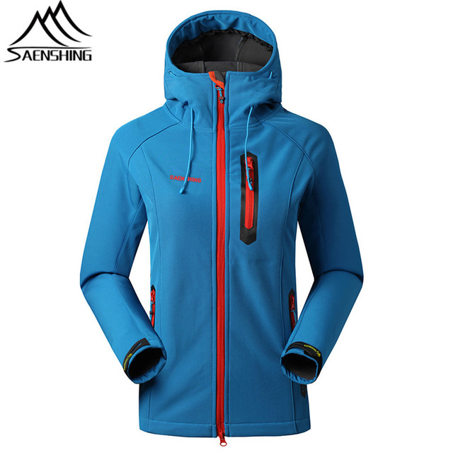 SAENSHING Waterproof Softshell Jacket Women Camping Hiking Softshell Jackets Autumn Windbreaker Chaqueta Impermeable Mujer