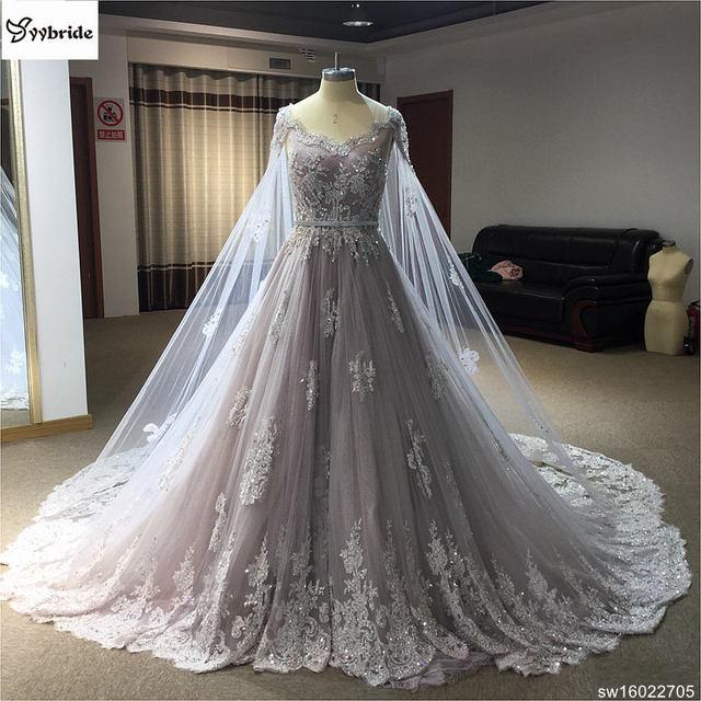 vestido de novia plisado fotos reales diamantes de encaje línea a