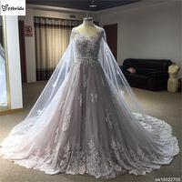 Zakładka Bridal Suknia Ślubna Real Zdjęcia Diamenty Linii Koronki Suknia Ślubna 2016 Vintage Skrzydła Suknia vestido De noiva 2015