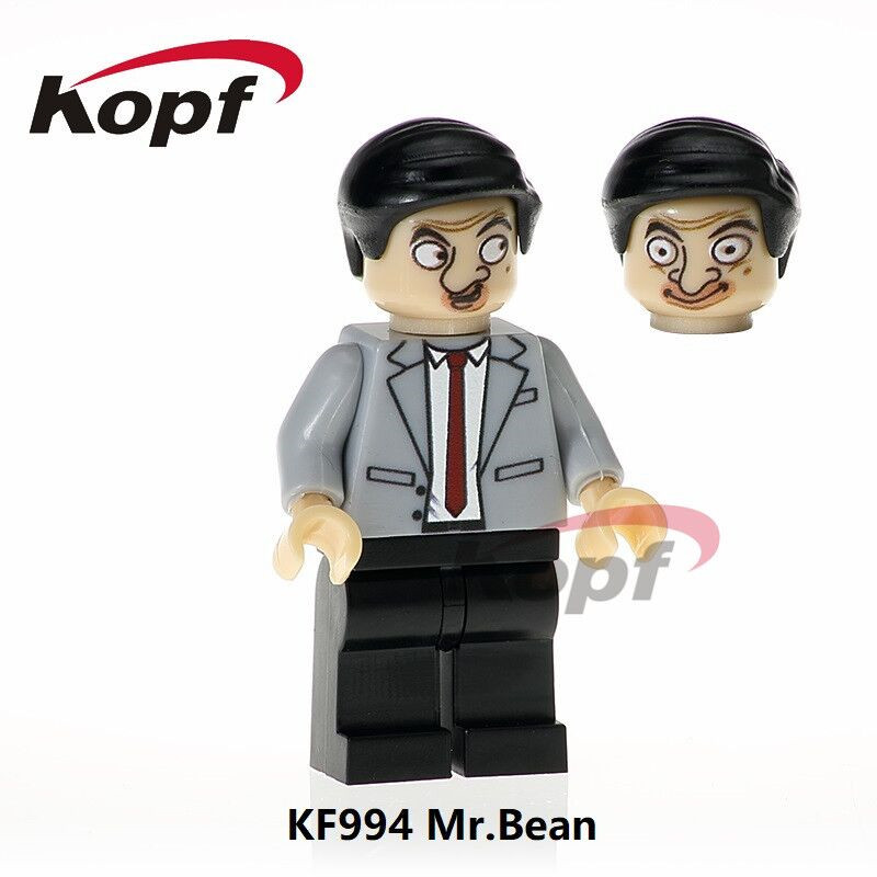 Building Blocks Single Sale Mr.Bean Famous Movie and Cartoon Character Figures Super Heroes Bricks Children Gift Toys KF994