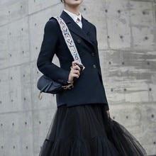 SE Womens Fashion Office Runway Blazer Long Sleeve Double Breasted Jacket Designer Elegant Femme Ete