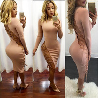 Women Indian Saree 2017 New Products Sell Like Hot Cakes The European And American Qiu Dong Sexy Long-sleeved Pure Night Dress