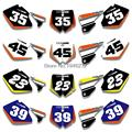 Custom Backgrounds Number Plate Graphics Sticker & Decals For  KTM SX MXC 125/250/380/400/520 1998-2000