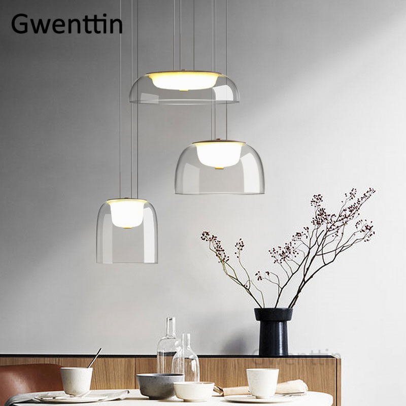 Modern Pendant Light Glass Nordic Led Hanging Lamp For Living Room Bedroom Home Loft Industrial Decor Kitchen Lighting Fixtures