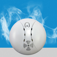 Wireless Smoke Fire Detector For Wireless For Touch Keypad Panel Wifi GSM Home Security Burglar Voice