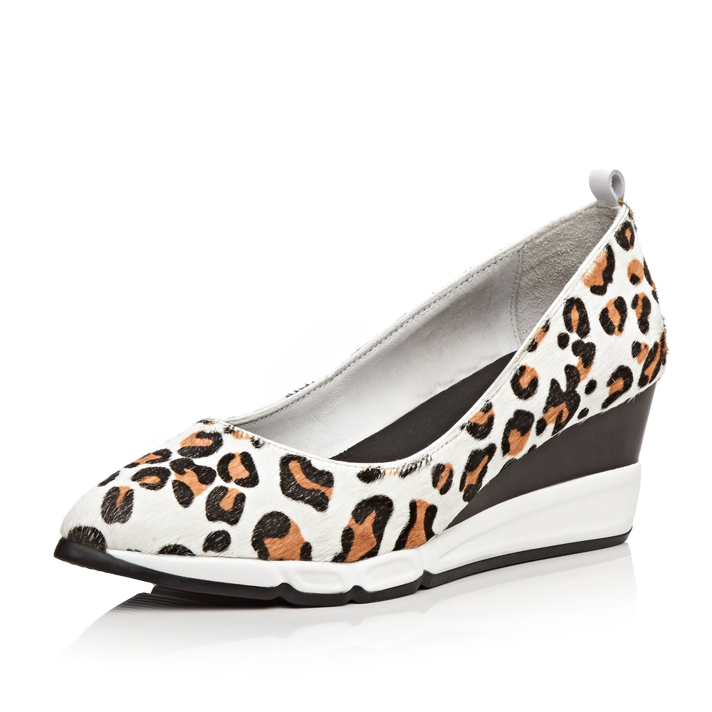 ФОТО 2017 genuine leather Real horsehair Women Wedges Spring Casual pumps 5.5 cm High heels wedding shoes Platform Size 39 LMZ-B709