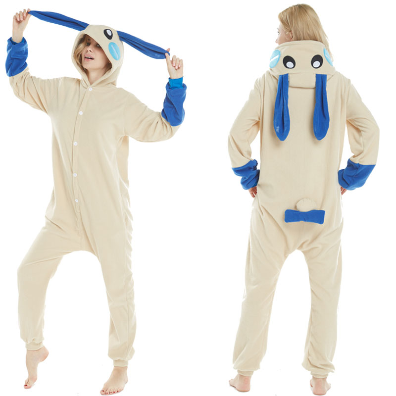 9737207967 Detail Feedback Questions about New Costumes Blue Long ears Rabbit Cosplay  Costume Fleece Winter Pajamas Onesies Pyjamas Carnival Halloween Party Dress  for ...