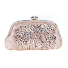Neue Mode Frauen Diamant Taschen Perlen Blumen Mädchen Partei Abendtaschen Hochzeit Kristall Kleine Kupplung Geldbörse Frau Handtasche