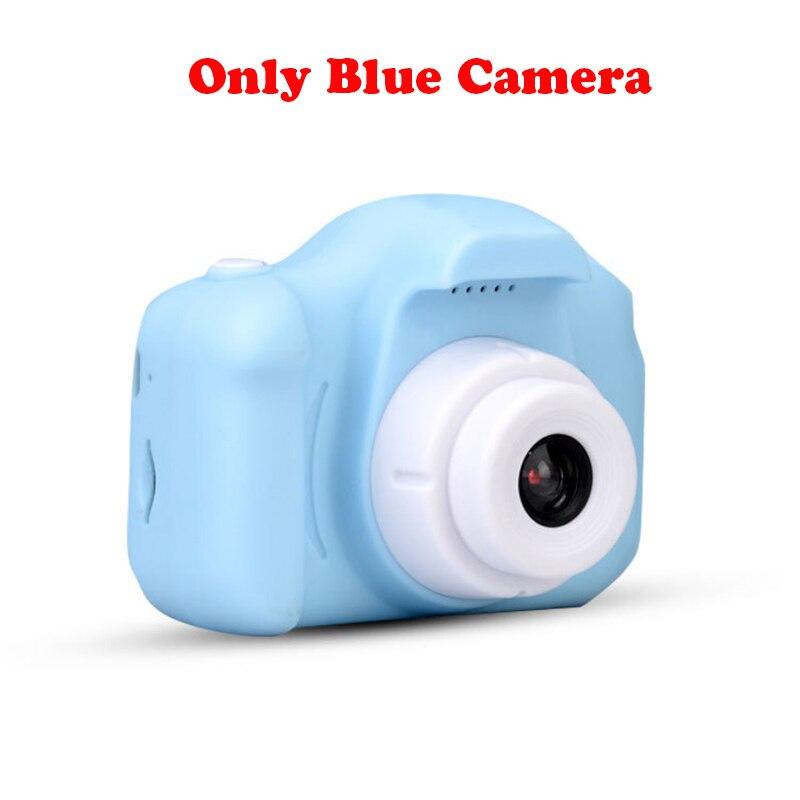 13.0MP перезаряжаемая детская мини-цифровая камера 2,0 дюймов HD экран видеомагнитофон видеокамера язык переключение тайм съемки - Цвет: Blue without TF card