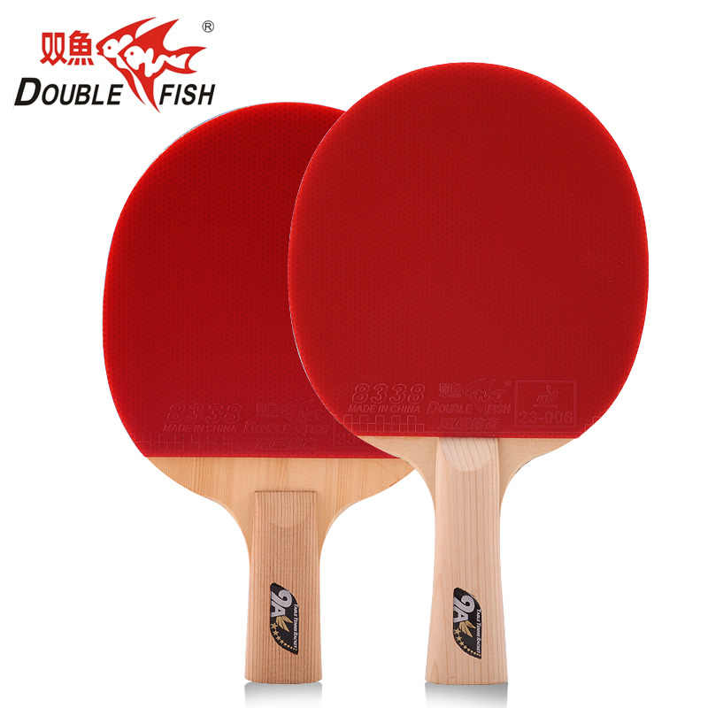 Genuine Double Fish 9A Carbon Fiber Table Tennis Bat Ping Pong Racket loop with quick attack pimples in with leather bag