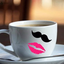 YOYOYU Vinyl Wall Decal  Funny lips mustache Single Sale DIY Phone Case Cup Switch Creative Small Thing FD155