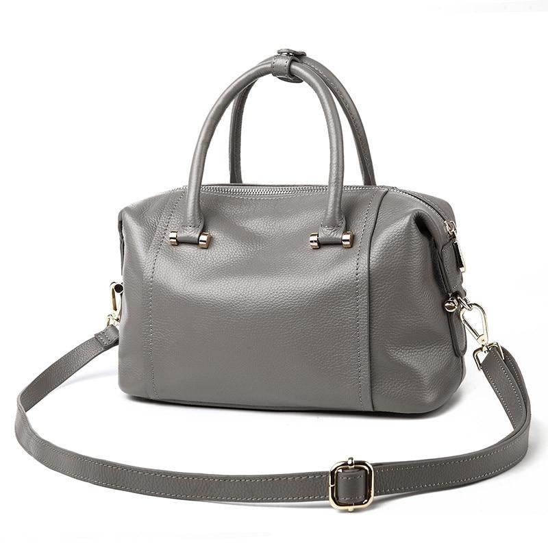 New Genuine Leather Women font b Handbags b font Cow Leather Women Shoulder Bag Fashion Messenger
