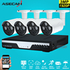 New Super Full HD 4CH 3MP Home Outdoor CCTV System Kit 4 Channel Array LED CCTV