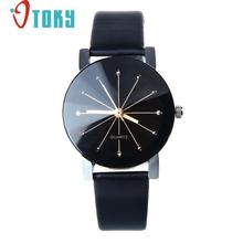 Novel design OL watch 1PC WoMen Quartz Dial Clock Leather Wrist Watch Round Case female Watch yj Dropshipping