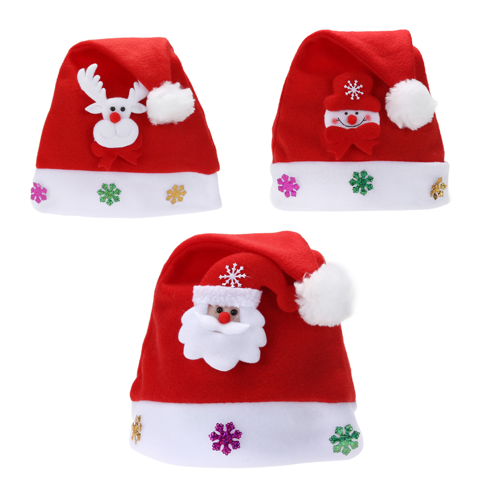 f68244460d9 Christmas Hats New Years Party Santa Hat Red And White Cap Christmas ...