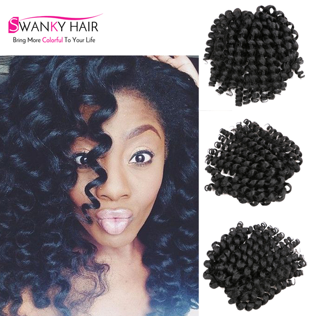 Jamaican Bounce Crochet Hair Freetress Braid Curly 8 Inch Jumpy Wand Curl Kanekalon Synthetic