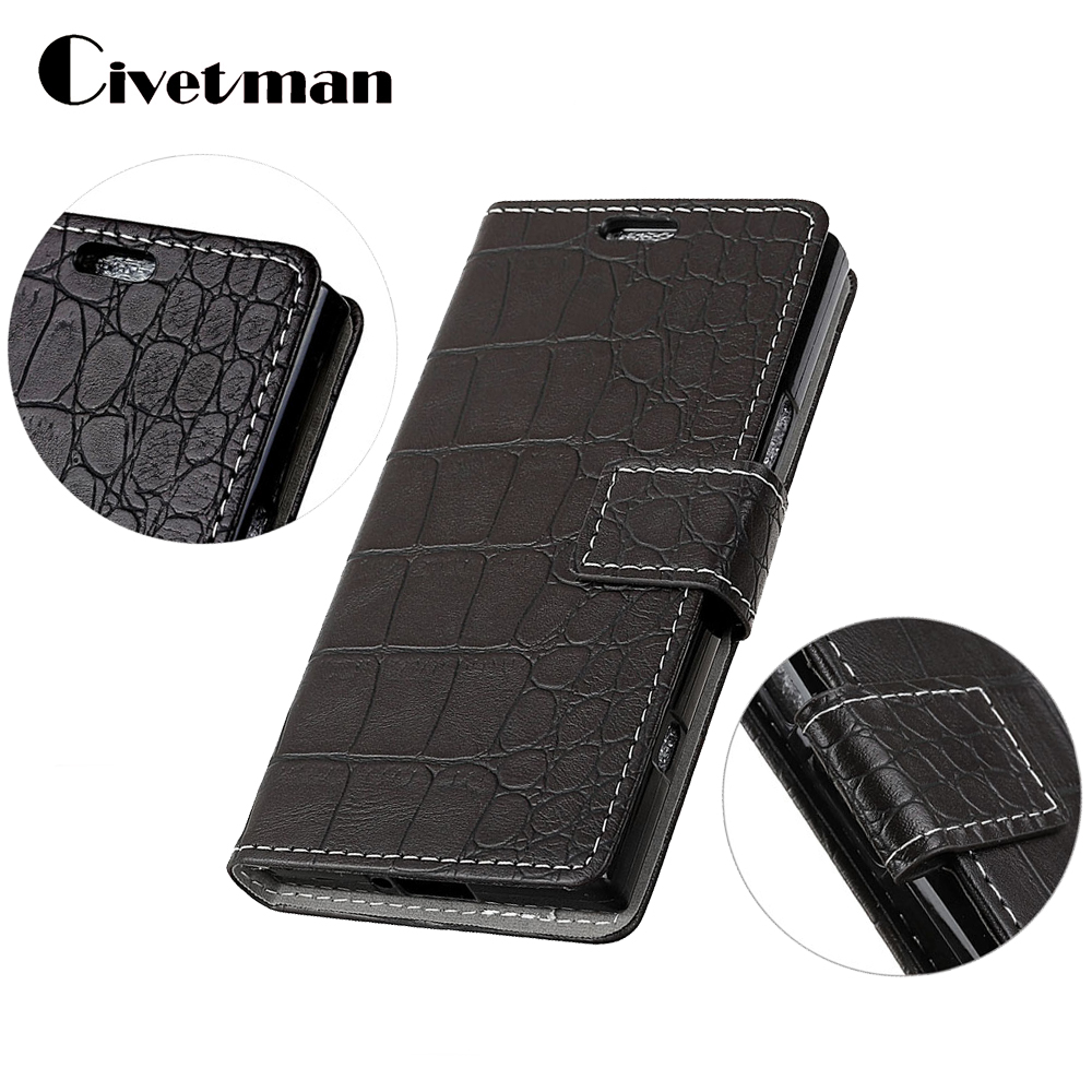 Cover Phone Case For Huawei Mate 10 Pro Flip PU Leather Shell Crocodile Crazy Horse Holster Bag sFor Huawei Mate 10 Lite Coque
