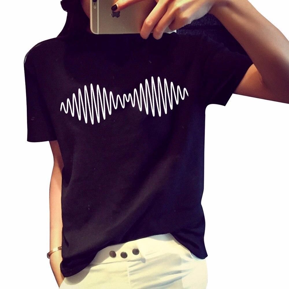 Fashion Donne Yemuseed Arctic Monkeys Shirt Di H208 T Estate Stampa rQWxCedBo