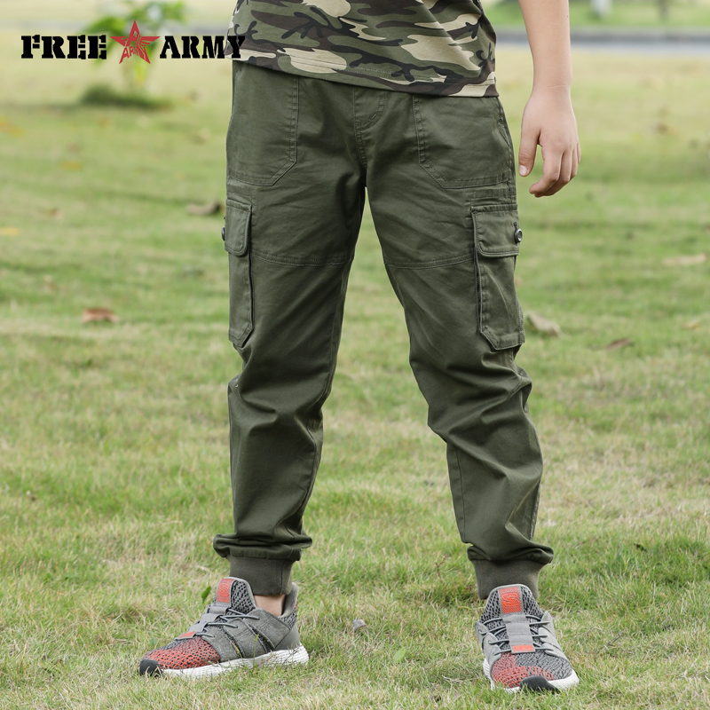 New Cotton Pants Big Pockets Teenager Straight Loose Trousers For Boys Military Style Childrens Capri Casual Sports Pants KidNew Cotton Pants Big Pockets Teenager Straight Loose Trousers For Boys Military Style Childrens Capri Casual Sports Pants Kid