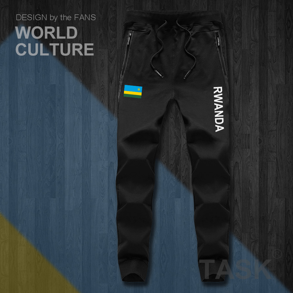 Rwanda Rwandan Rwandese RWA RW Mens Pants Joggers Jumpsuit Sweatpants Track Sweat Fitness Fleece Tactical Casual Nation Country