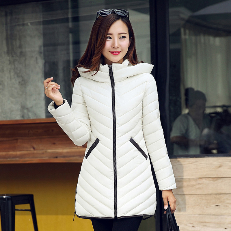 Winter New Women's Jacket Hooded Down Cotton Coat Slim Thick Warm Fashion Plus Size Long Wadded Jacket Female Casual Parka C1181 winter jacket women 2017 new fashion female long coat thick warm padded cotton jacket parkas casual hooded jacket plus size loo