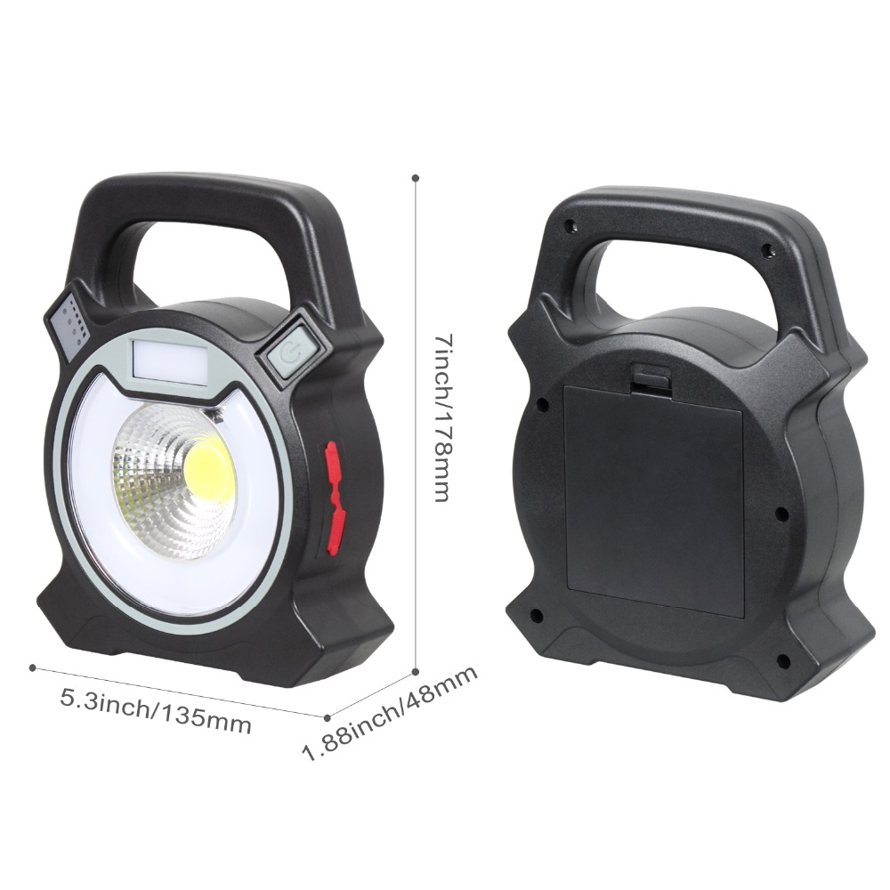 Portable Lighting Responsible Cob Led Work Light Rechargeable 15w Battery Portable Lantern Searchlight Usb Rechargeable Led Spotlight Outdoor Camping Lamp Discounts Price