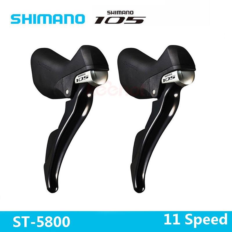 Shimano 105 ST-5800 2 x 11 Speed Brake/Shift Bike Dual Lever Bike Parts Derailleur Brake Switch - 1 Pair Free Shipping 105 st 5800 2 x 11 speed brake shift bike dual control lever 1 pair