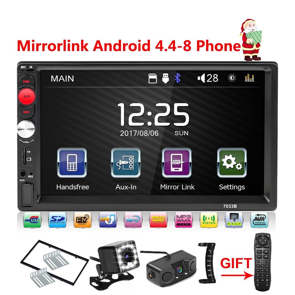 2 Din Car Radio Mirrorlink Bluetooth 2din Car Multimedia Player 7