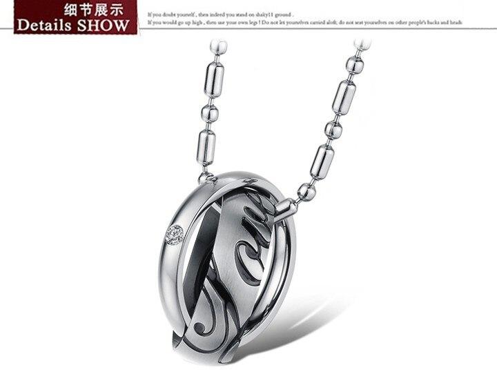 Ожерелье любовника s нержавеющей стали 316L серебрение розовое золото и горный хрусталь CZ два слоя круглый мода ювелирных изделий