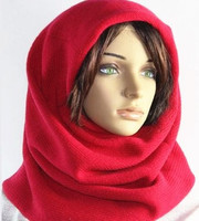 100%goat cashmere knit winter hats multi way hooded scarf women fashion beanies bonnets solid color retail wholesale