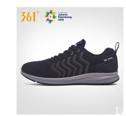 361 Мужская обувь 2018 Черная спортивная обувь 361 градусов дышащая Летняя Сетка обувь для бега