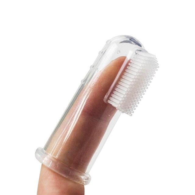 Super Soft Pet Finger Toothbrush Teddy Dog Brush Bad Breath Tartar Teeth Tool Dog Cat Cleaning Pet Supplies 4