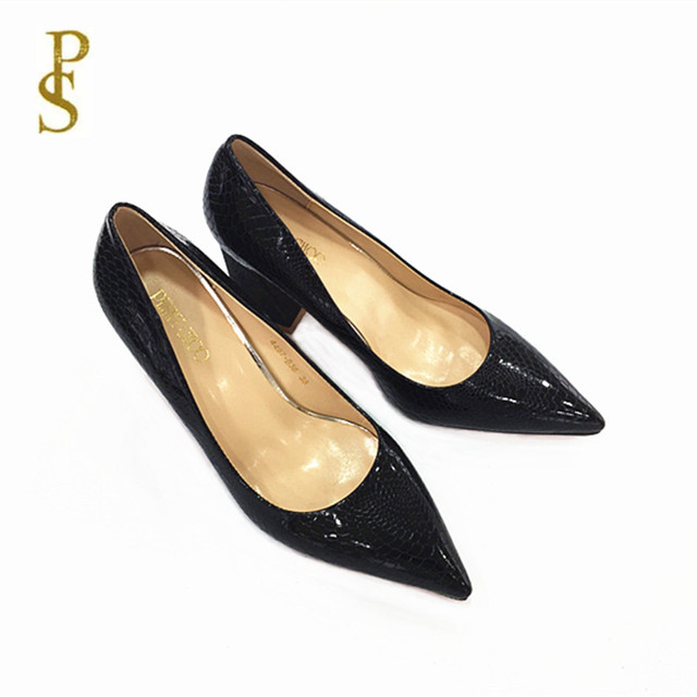 Stone grain high heels shoes Women shoes ladies party shoes