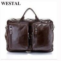 WESTAL мужские сумки натуральная кожа сумка мужская через плечо МНОГОФУНКЦИОНАЛЬНЫЙ ИНСТРУМЕНТ портфель мужской бизнес сумка кожанная для но