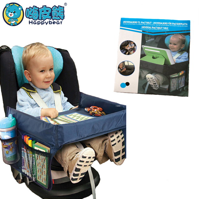 Waterproof Table Car Seat Tray Storage Kids Toys Infant Stroller Holder For Children Portable