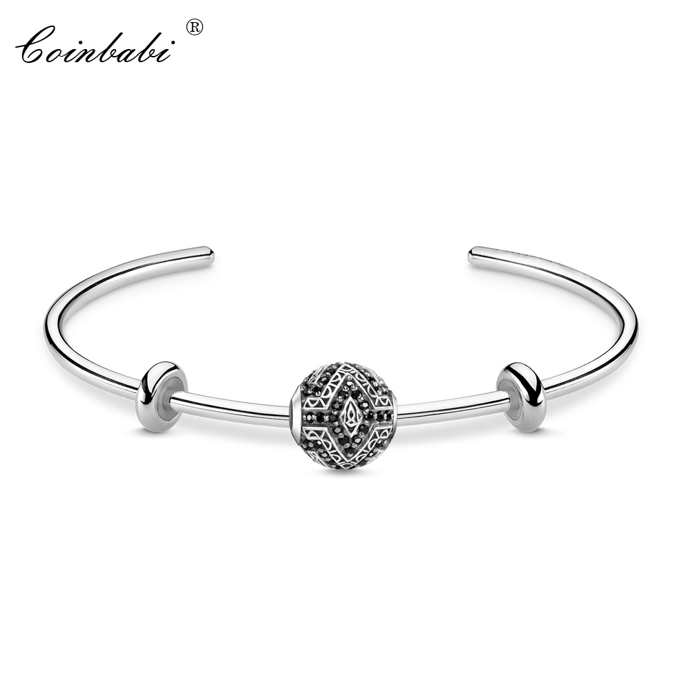 Bracelets Bangles Panther Bead 925 Sterling Silver Ts Jewelry Men Women Thomas Trendy Gift Fit Beads Charms