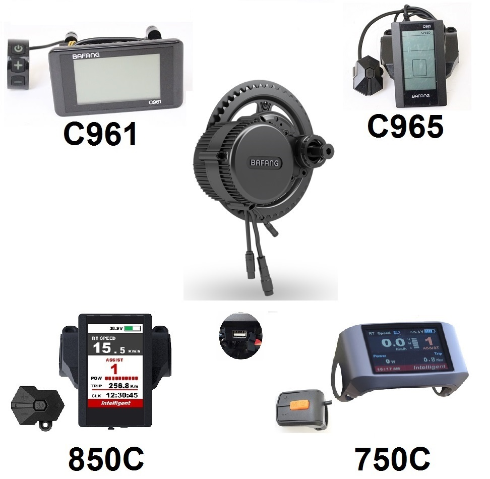 EU Duty Free 20% hors BAFANG 8fun BBS03 BBSHD 48 V 1000 W kits de moteur à manivelle moyenne BB 68mm 100mm 120mm C961 C965 couleur 850C 750C