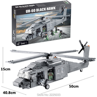compatible legoeinglys military UH 60 Black Hawk helicopters Army Team 562pcs Building Blocks brick Educational toy for children