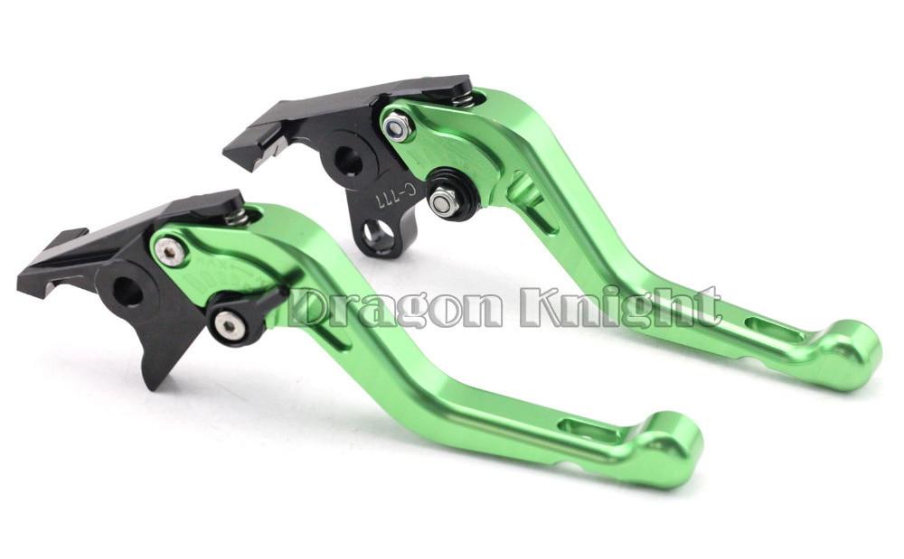 Motocycle Accessories For KAWASAKI ZZ-R 1100 ZR-X 1100 ZR-X1200 Short Brake Clutch Levers Green 12v