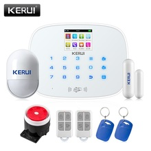 Check Discount KERUI G19 GSM RFID Disalarm Smart Socket Infrared Security Motion Movement Wired Siren Sensor Detector Home Smart Alarm System