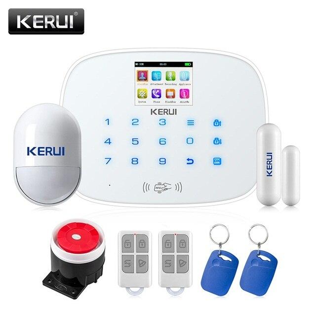 KERUI G19 GSM RFID Disalarm Smart Socket Infrared Security Motion Movement Wired Siren Sensor Detector Home Smart Alarm System