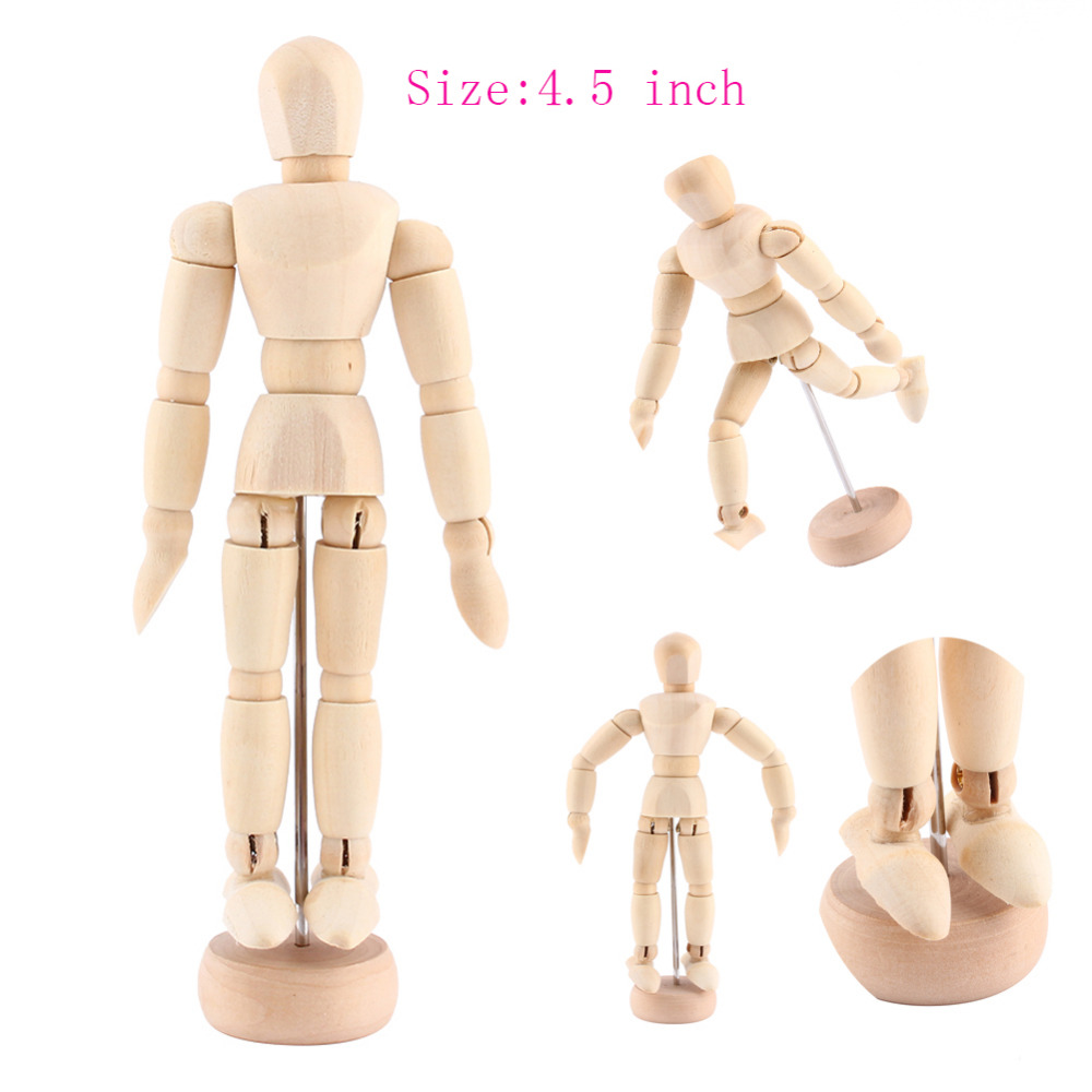 4.5 inch joints wood Wooden mannequin toy / wooden puppet / wooden ...