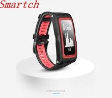 Smartch T28 Спорт трекер Smart Band Давление temp GPS сердечного ритма Мониторы трекер фитнес-Браслет Смарт-браслет