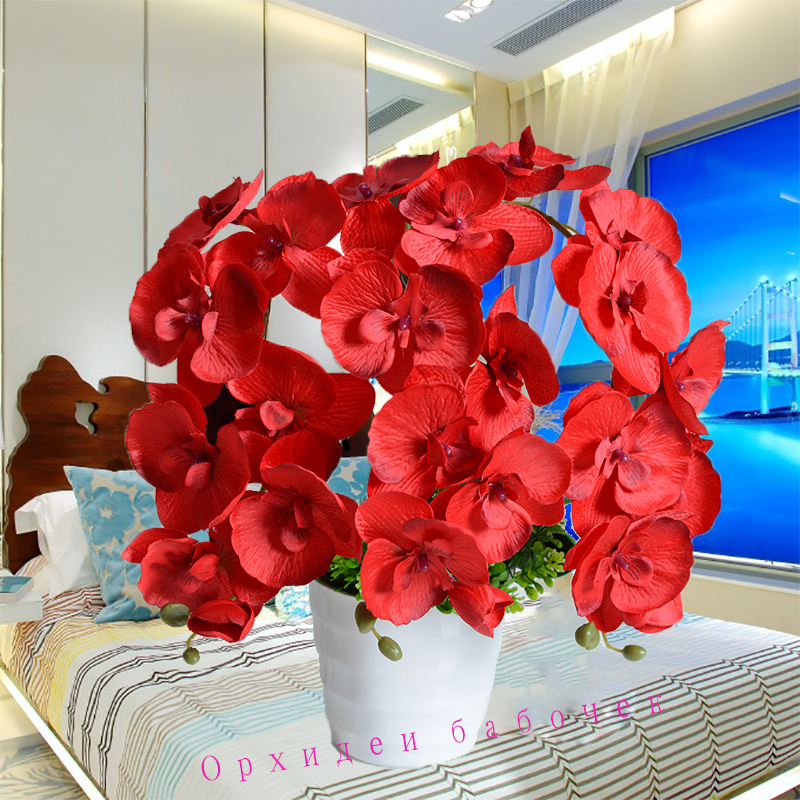 Fashion Orchid Artificial Flowers Bouquet For Wedding And Home Decoration 5