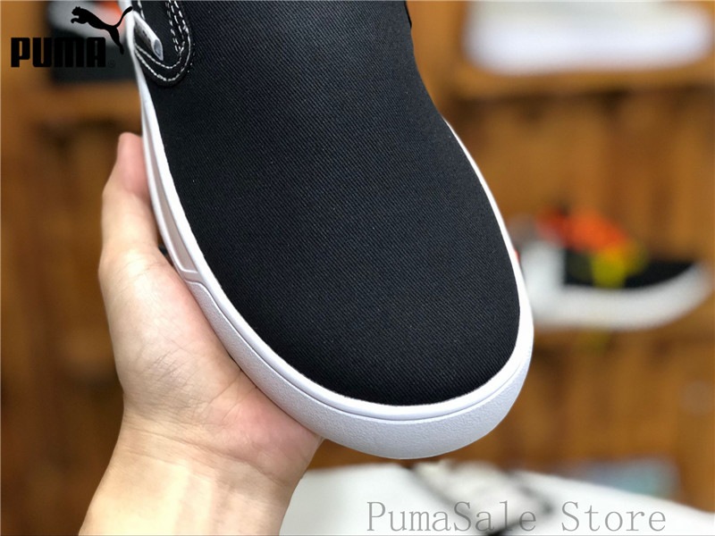 Original PUMA Smash Vulc Slip on K Men And Women Shoes 367617 01 Black Badminton  Shoes Sneakers Size EUR35.5 44-in Badminton Shoes from Sports ... a1f46be46